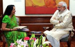 लोकसभा सांसद हेमा मालिनी 5 नवंबर का दिने प्रधानमंत्री नरेन्द्र मोदी से मुलाकात कइली.