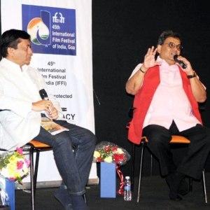 जानल-मानल फिल्मकार सुभाष घई 24 नवम्बर, 2014 का दिने पणजी, गोवा में 45वां भारत अंतर्राष्ट्रीय फिल्म समारोह में आपन विचार परोसत.